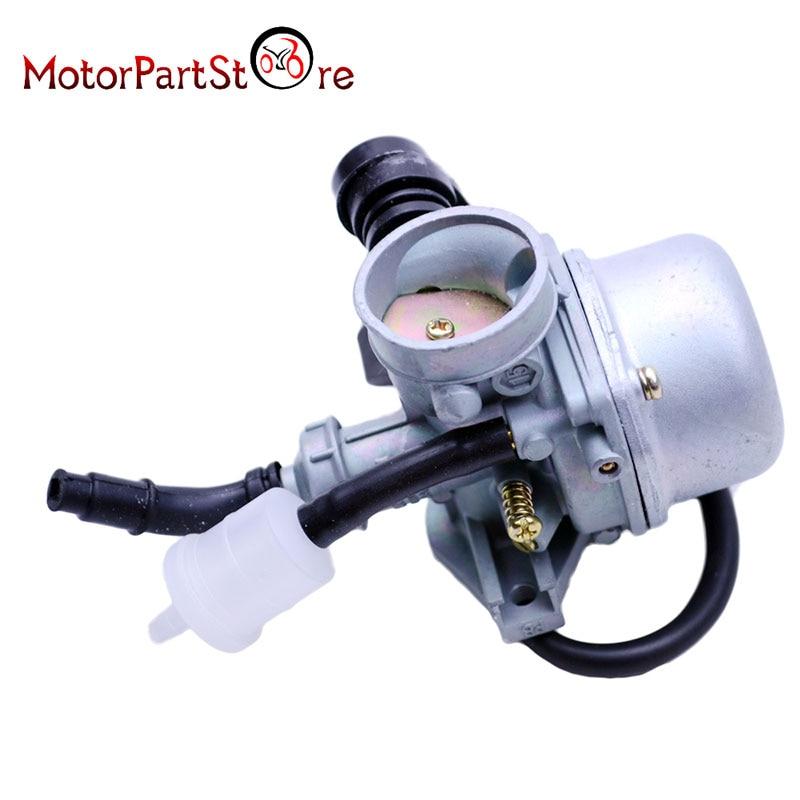 PZ19 19mm Motorcycle Carburetor For Chinese 50CC 70CC 90CC 110CC 125CC ATV Dirt Bike Go Kart Manual Choke Taotao @20