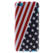 For Iphone 5C Cases American Flag Pattern Soft TPU Case cover Fundas For Iphone 5C Fashion