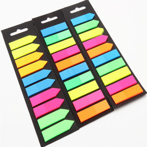 200 sheets Fluorescence Self Adhesive Memo Pad Sticky Notes Bookmark Marker Memo Sticker Paper Student office Supplies