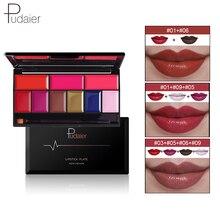 Cream Lipstick-Palette Moisturizer Long-Lasting Waterproof Pudaier 9colors Pigment 1PC