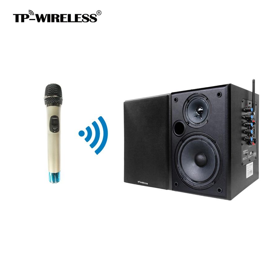 TP-WIRELESS 2.4 GHz salle de classe haut-parleur système d'enseignement Microphone à main et haut-parleur noir pour enseignant/église/salle de conférence