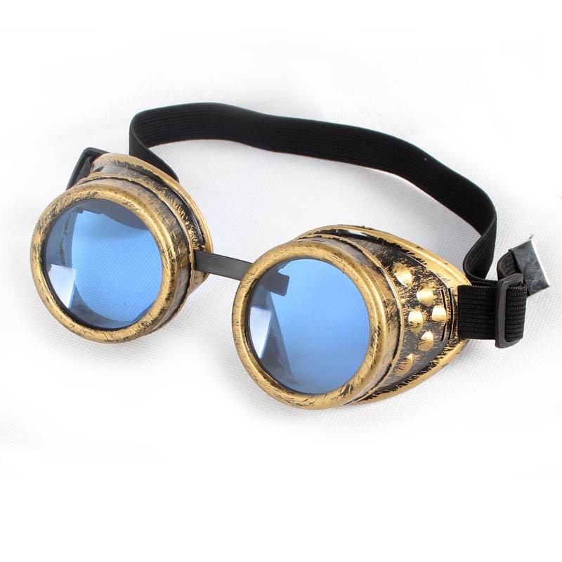 LELINTA 2020 cadılar bayramı Steampunk gözlük camları kaynak Cosplay gotik gözlük tarzı Retro Unisex gotik