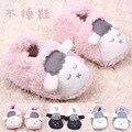 Осень и Winnter Новый стиль 0 - 12 месяцев девочек мальчиков симпатичные 3D мультфильм овец плюшевые теплые мягкие детская кровать в обуви