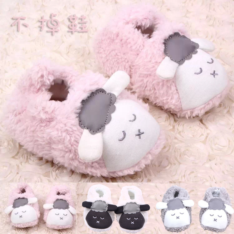 Autumn&Winnter New Style 0-12 Months Infant Baby Girls Boys Cute 3D Cartoon Sheep Plush Warm Soft Crib Shoes