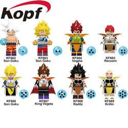 Legoings цифры Dragon Ball Z строительные блоки сын Goku vegeta Recoom Raditz Krillin Ninajagoed куклы игрушки для детей KF6057