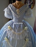 Индивидуальный заказ 1800 s викторианское танцевальное платье 1860 s Civil War свадебное чайное платье вечерние