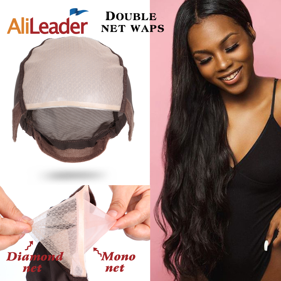 Wholesale Price Wig Cap For Making Lace Wig Mono Net Elastic Wig Cap Adjustable Straps And