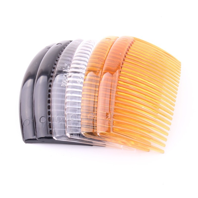 DIY Hair Comb With 23 Teeth For Girl  Plastic Tuck Comb For Children Plain Simple Hair Clips Hairbrush Accessories 6 PIECES/LOT