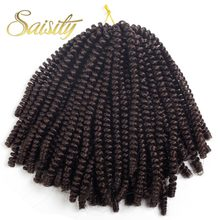 Saisity Ombre Hair Extension Crochet Spring Twist Crochet Braids Synthetic Braiding Hair Jamaica Bounce Fluffy Twist(China)