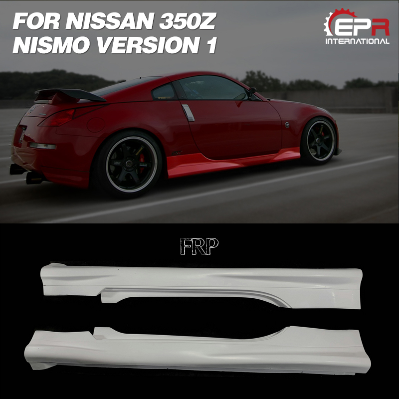 Car Accessories For Nissan Z33 350Z Nismo Version 1 FRP Fiber Glass Side Skirt Fiberglass Door Step Cover Tuning Body Kit Part image
