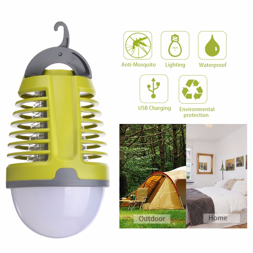 Dewel USB Mosquito Killer Lamp Mosquito Repellent for Camping Waterproof Anti Mosquito Outdoor and Indoor Lamp with 2 Mode Light