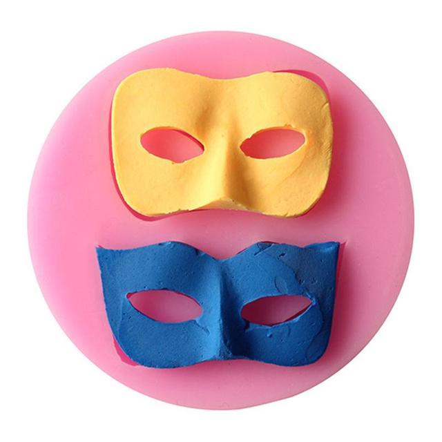 Bal D Halloween Masque Silicone Moule Fondant Gateau Decoration