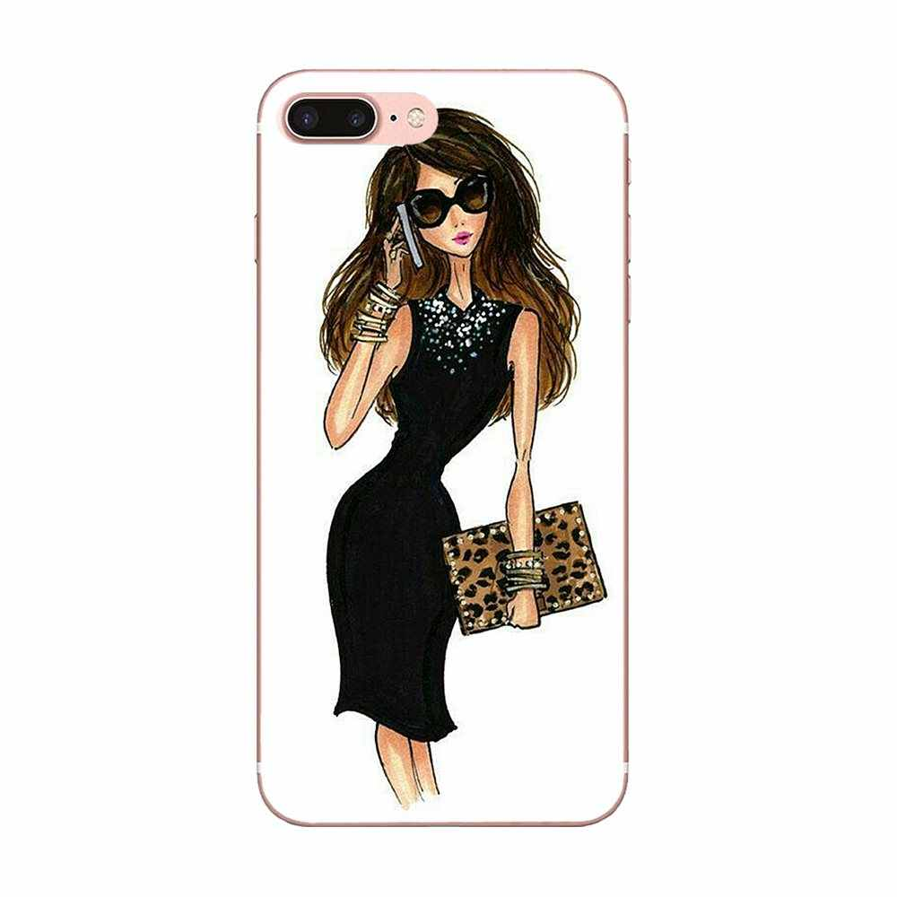 Luxury Fashion Travel Girl Shopping For Xiaomi Mi3 Mi4 Mi4C Mi4i Mi5 Mi 5S 5X 6 6X A1 Max Mix 2 Note 3 4