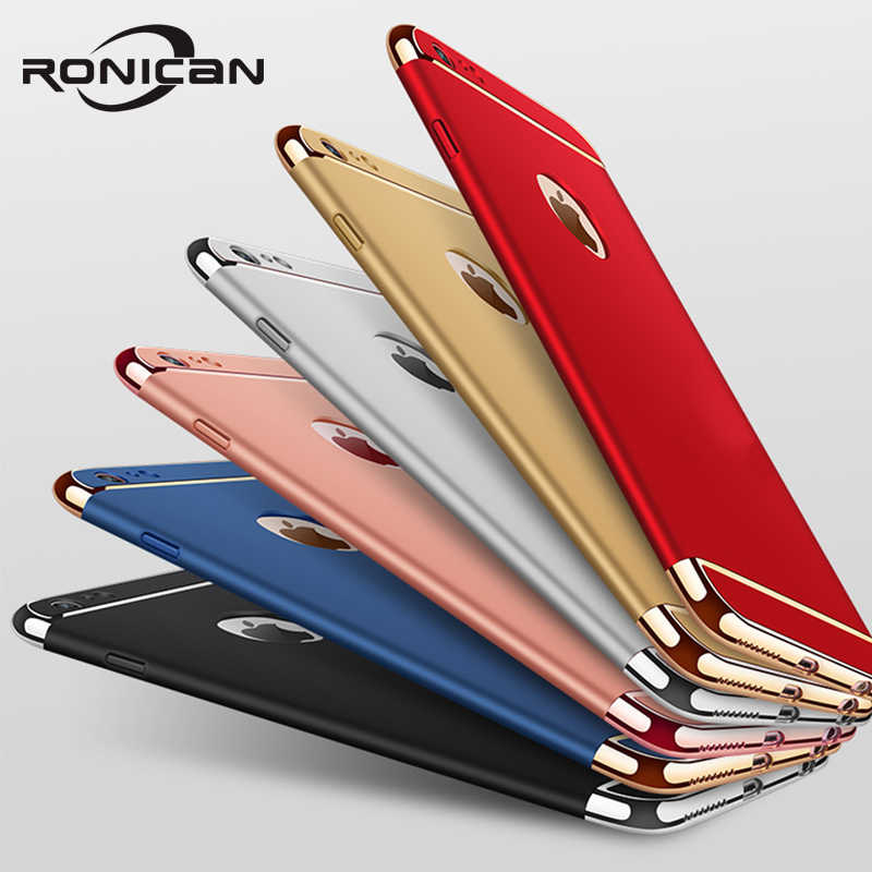 Funda RONICAN de lujo para iPhone 6, 6 S, 6 plus, 7, carcasa dura 3 en 1 para iPhone 7 plus