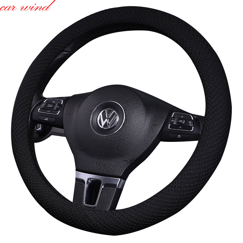 Car steering wheel cover For bmw e46 e90 e60 passat b8 b5 peugeot 206 308 307 lancer x kia ceed steering wheel car accessories
