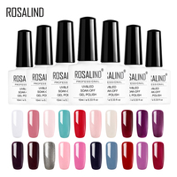 ROSALIND Gel 1S Nail Gel 10ml Soak Off Gel varnish for nail beauty Semi Permanent Need Base Top Coat Nail gel Polish