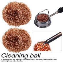 1PCDesoldering soldering iron mesh filter cleaning nozzle tip copper wire ball clean ball dross