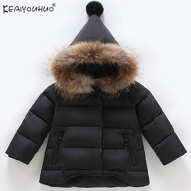20f5ae38b Boys Winter Coats Warm Down Jackets For Girls Children Clothing Bo...