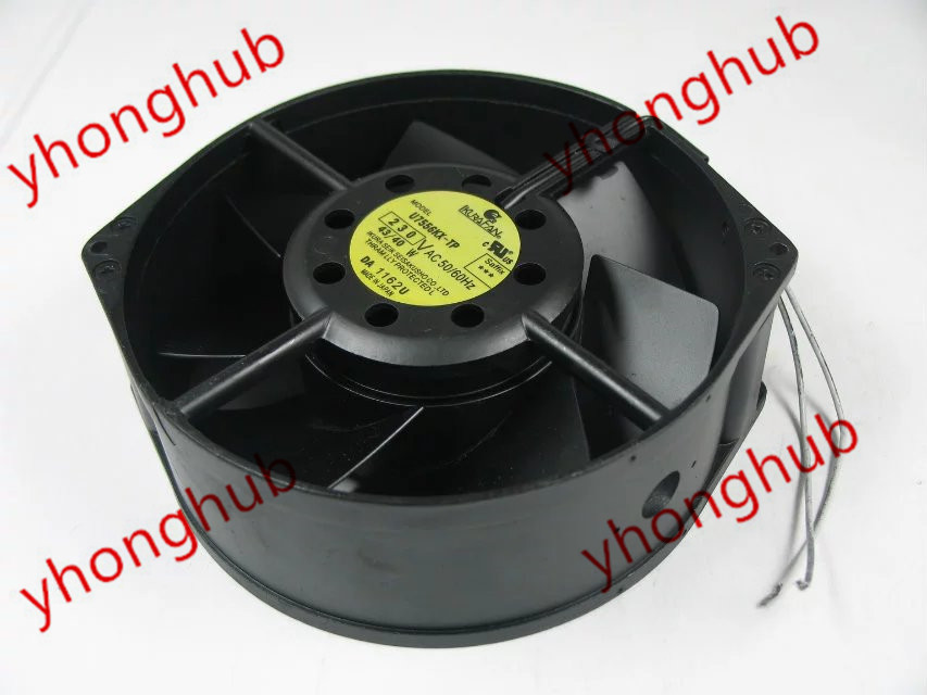 Emacro For IKURA U7556KX-TP AC 230V 43/40W 2-wire Server Round Fan free shipping emacro fujitsu uf 15kmr23 bwhf ac 23v 45w 2 wire 110mm 172x150x55mm server round cooling fan