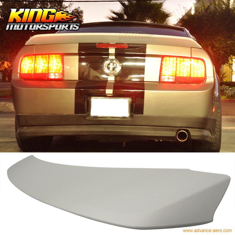 For 2005-2009 Ford Mustang Primer Grey OE Style Trunk Spoiler Wing (ABS)