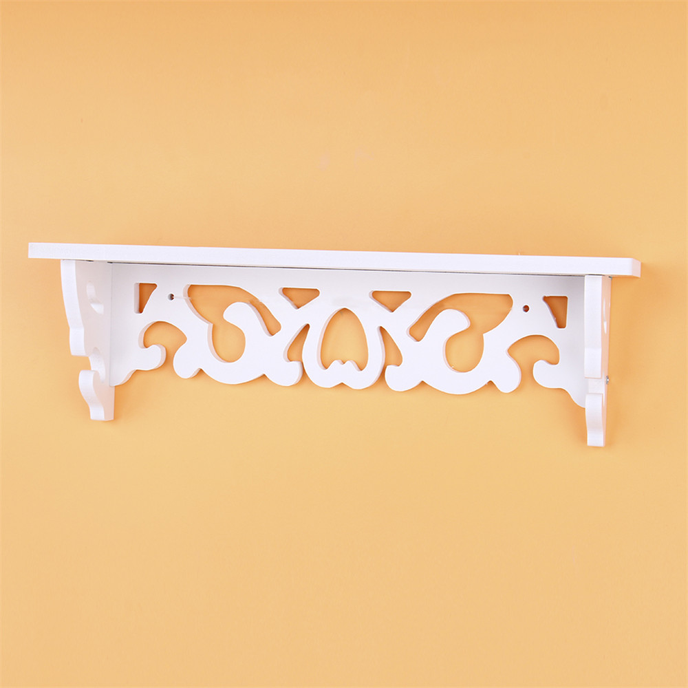 Oversea Wall mounted White Hanger Hand Carved Wall Shelf Storage ...