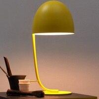 Желтый розовый Настольный светильник Nordic гостиной, спальни исследование настольная лампа LED лампа для чтения детская Eye Care настольные лампы