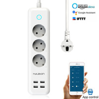 Smart Power Strip with USB ports 3 Way Outlets 4 USB Ports Surge Protection Power Strip Universal Power Socket with 2 Meter line