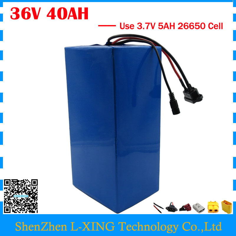 EU US no tax 1800W 36V 40AH electric bike battery 36V 40AH e-scooter battery use 3.7V 5AH 26650 cell 50A BMS with 42V 4A Charger intocircuit® new 36v 1 5a 1500ma electric bike motor scooter battery charger power supply adapter for gt gt750 electric scooter