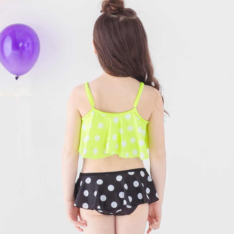 Polka Dot Bayi Gadis Pakaian 2019 Dua Potong Anak Lucu Balita Gadis Bikini Set 3-12 Tahun pakaian Renang untuk Gadis
