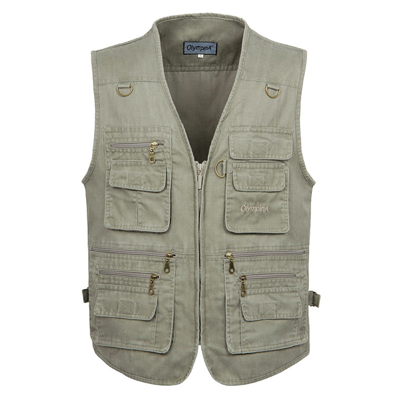 Men Outdoor Vest XL-5XL Fishing Jacket Spring Summer Male Military Vest Fishing Director Photography Tactical Vest PSG Tracksuit