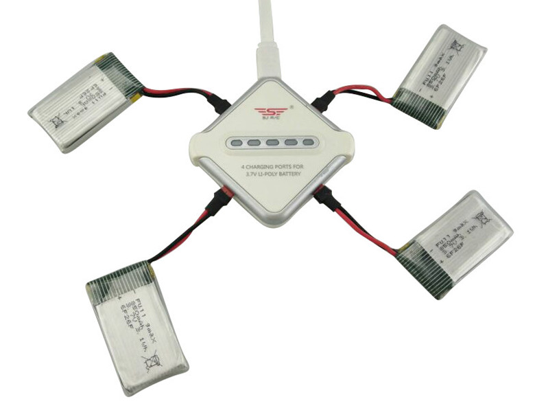 Model battery SYMA X54HW X54HC remote control helicopter accessories 4PCS 3.7V 850mah lithium battery and 4 in 1 charger 3pcs battery and european regulation charger with 1 cable 3 line for mjx b3 helicopter 7 4v 1800mah 25c aircraft parts