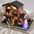 Christmas Gift  Handmade Doll House Furniture Miniatura Diy Doll Houses Miniature Dollhouse Wooden Children Grownups TB4SD