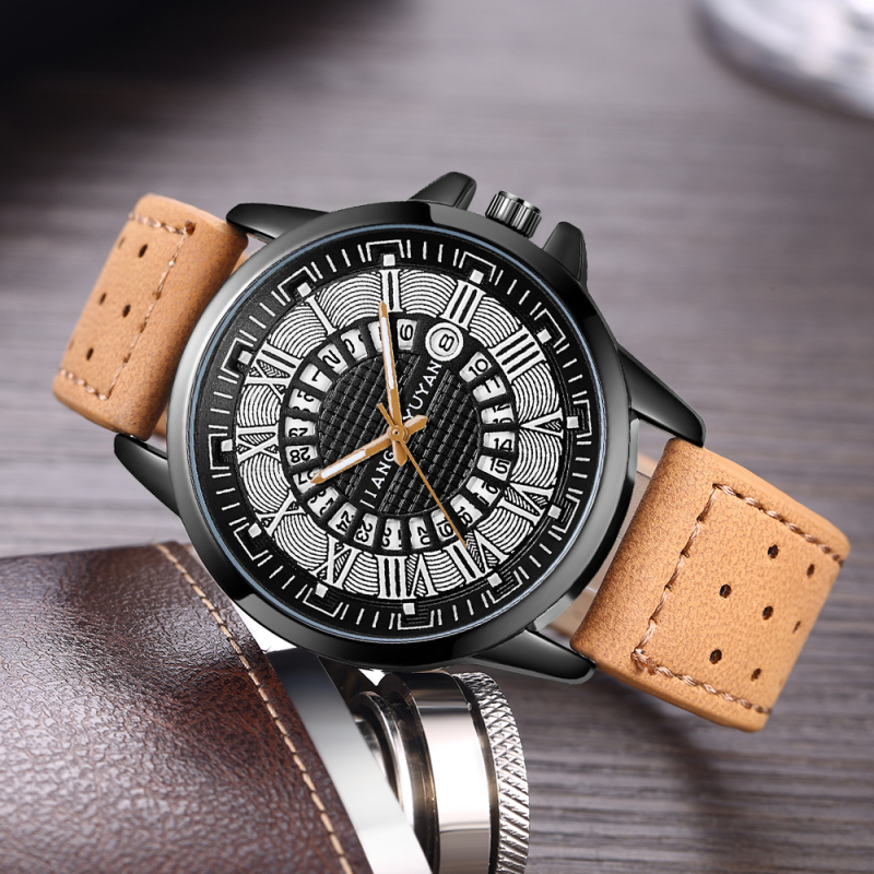 2018 Top Brand Luxury Quartz Watch Men Military Analog Watch Mens Watches Leather Sports Wristwatch Date Clock relogio masculino oulm mens designer watches luxury watch male quartz watch 3 small dials leather strap wristwatch relogio masculino