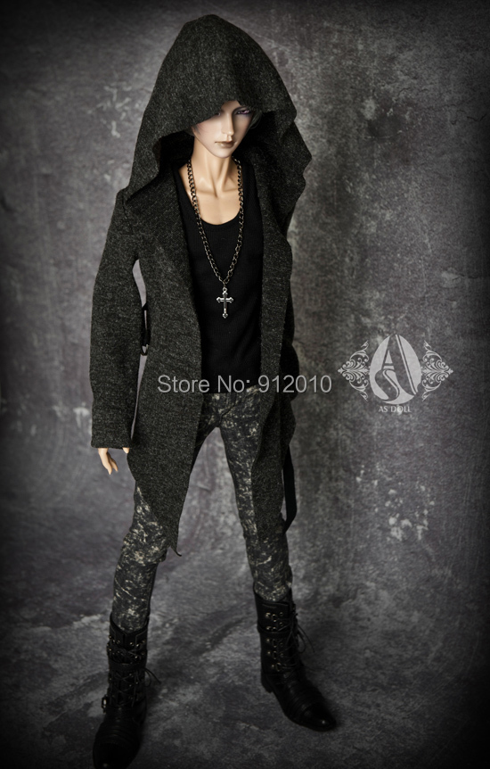 Cool Dark Grey Hoodies Long Shirt Coat  for BJD Doll 1/4,MSD,1/3,SD17,Uncle, SSDF Doll Clothes CMB17 1 3 uncle bjd sd doll clothes accessories 4 color bjd hat bowler hat