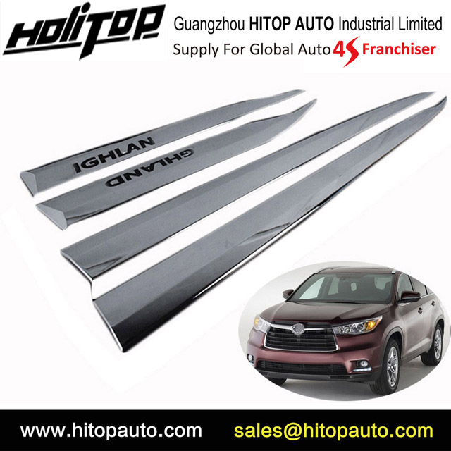 Abs Chrome Body Side Molding Door Moulding Trim For Toyota