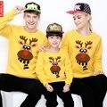 Juego de La Familia de La Madre Hijo Hija Ropa Trajes de Año Nuevo Suéteres Familia Look Traje funnny Ropa Pijamas A Juego Con Capucha