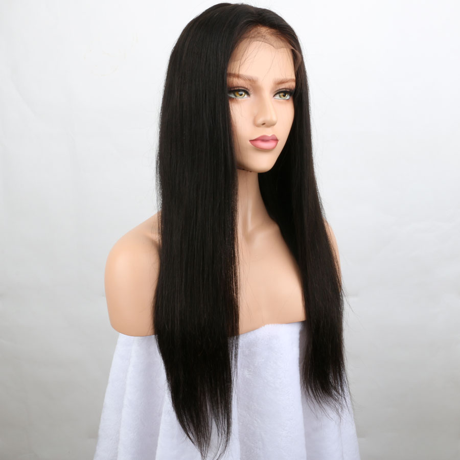 BEEOS Hair 150 Density Lace Front Human Hair Wigs Natural Color Pre plucked Hairline Non Remy Hair With Baby Hair Bleached Knots