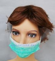 100 Pcs/Pack Nouveau Anti-brouillard Masque Avec Visière Pour Usage Chirurgical Polypropylène Masque Avec 3 pcs Couche Santé soins Outil