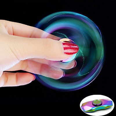 Newest Hot Sale Rainbow Fidget Hand Finger Spinner Focus EDC Bearing Toys Kids Adult Anti Stress