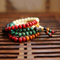 vintage Multilayer Buddhist Meditation Bead Mala Prayer Necklace Unisex Bracelet
