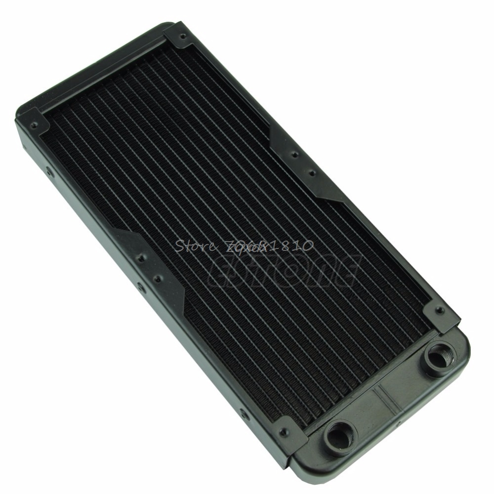 240mm G1/4 Aluminum Computer Radiator Water Cooling For CPU LED Heatsink Z09 Drop ship 5pcs lot pure copper broken groove memory mos radiator fin raspberry pi chip notebook radiator 14 14 4 0mm copper heatsink