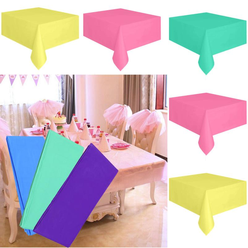 Disposable Rectangle Tablecloth Large Plastic Table Covers Wipe