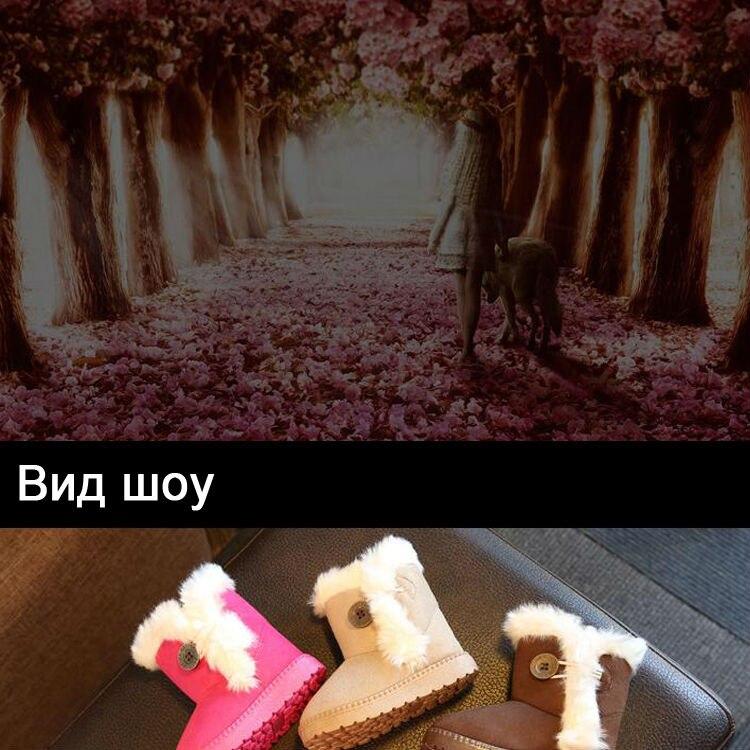 1_01Childrens boots, plush snow boots, non-slip, waterproof, warm, rubber, suede, boy, girl, children, shoes, outdoor thickening, winter