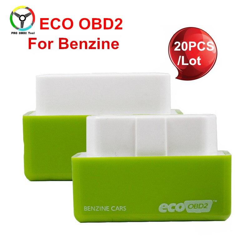 20Pcs/Lot High Quality Eco OBD2 Economy Chip Tuning Box OBD Car Fuel Saver EcoOBD2 For Benzine Cars Fuel Saving 15% Free Ship цена