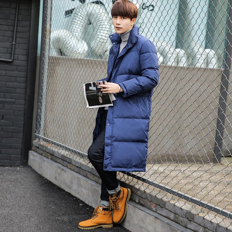 Пионерский лагерь Новый пуховик Мужское пальто зимнее плотное черное синее желтое хаки цвета брендовая куртка мужская одежда 2019 AYR908240 - 2