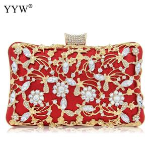 Image 4 - Women Rhinestone Clutch Bags gold purse Handbag Luxury Wedding Beaded elegant Crystal Evening Bag Diamond silver Shoulder Bags