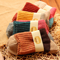5 Pairs/set Thickening Wool Patchwork Women Socks Fashion Folk Knitted Winter Warm Socks Design Soft Female Meias Terry Socks