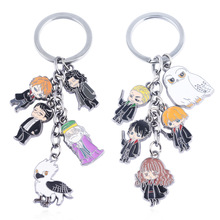 Anime metal phone strap Keychain keyring figure pendant toys set Key chain Keyring cartoon set toy Men and Women Gifts Key Ring цена