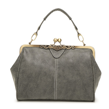 Gray Retro Handbag