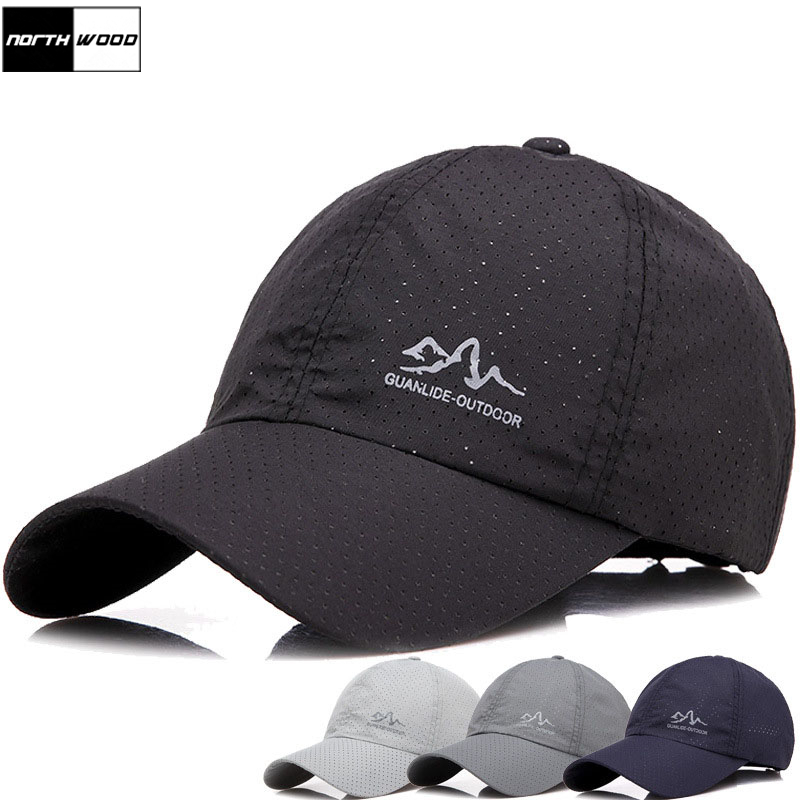 [NORTHWOOD] 2019 Fashion Summer Cap Solid Baseball Cap Men Branded Snapback Hats For Women Outdoor Ultra-Thin Dad Hat